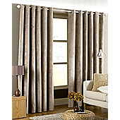 Riva Home Imperial Velvet Woven Lined Eyelet Curtains, Taupe, 66 x 72 Inch