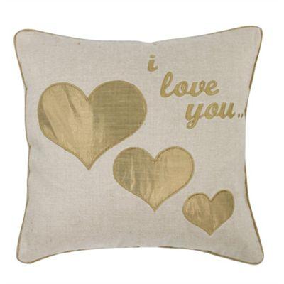 I Love You Cushion - Gold
