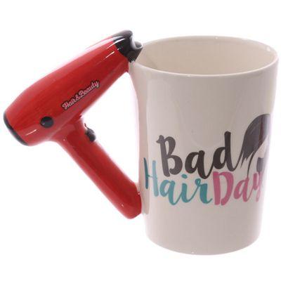 Puckator Girl Tools Hair Dryer Bad Hair Day Mug