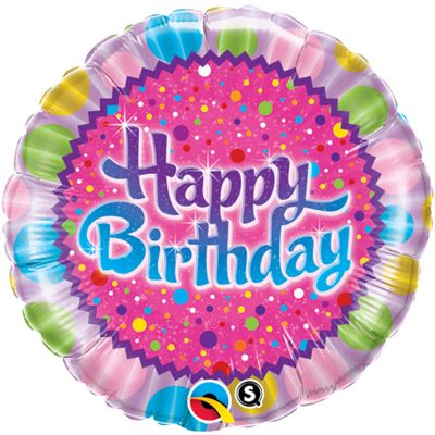 Birthday Sprinkles & Sparkles Balloon - 18 inch Foil