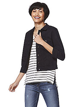 Vero Moda Long Sleeve Denim Jacket - Black