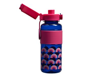 Tinc Mallo Large Flip and Clip Printed Water Bottle - Navy/Pink