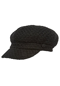 F&F Textured Baker Boy Hat - Black