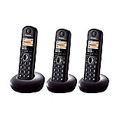Panasonic KXTGB213EB Digital Cordless Phone with 3 Handsets in Black
