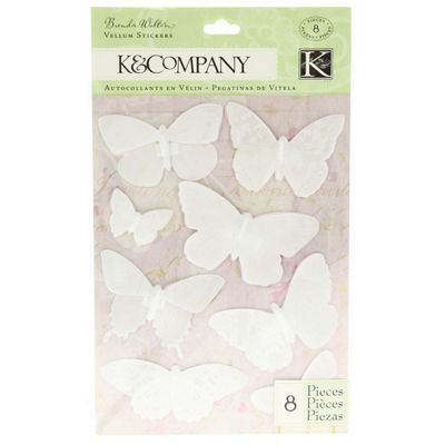 Flora and Fauna Butterfly Vellum Stickers