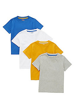 F&F 4 Pack of Short Sleeve T-Shirts - Multi