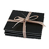 Occasion Set Of 4 Slate Drinks Coasters With Protective Feet in Gift Box Makes for a Great Wine Coaster 10x10cm