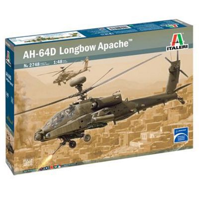 ITALERI 2748 British Army AH-64D Longbow Apache 1:48 Helicopter Model Kit