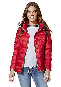 F&F Lightweight Shower Resistant Puffer Jacket - Red