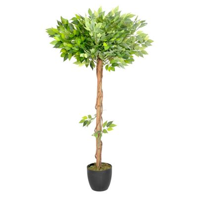 Homescapes 4 Feet Ficus Tree Green Artificial Plant