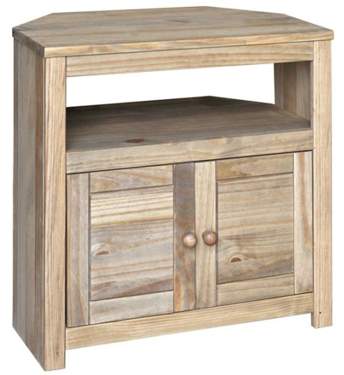 Hacienda Waxed Pine Corner TV Cabinet for up to 32 inch