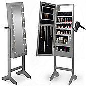 Beautify Make Up & Jewellery Floor Standing Storage Mirror - Grey