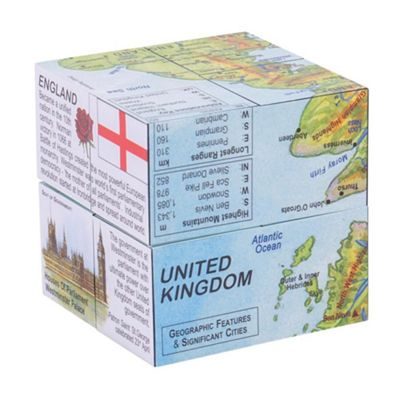 ZooBooKoo United Kingdom Facts and Figures Cubebook - Fold-Out Cube