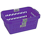 Wham Medium Handy Baskets 3 Pack, Purple