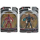 "Power Rangers Movie 5"" Action Figure Bundle - Red Ranger & Black Ranger - 2 Items Supplied"