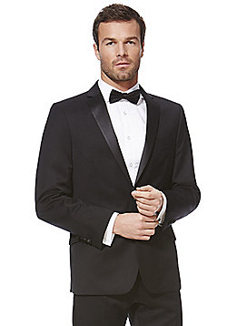 F&F Tailored Fit Tuxedo Jacket - Black