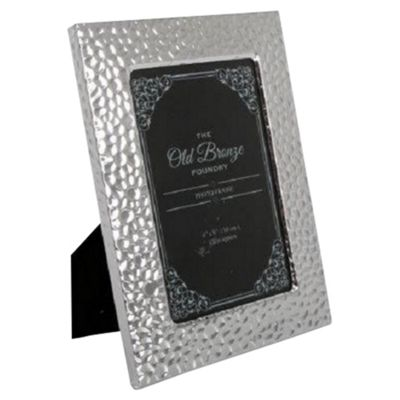 4X6 Embossed Silver Plated Frame