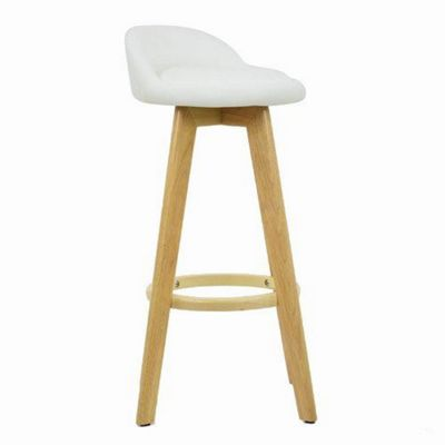 Athena Wooden Bar Stool White