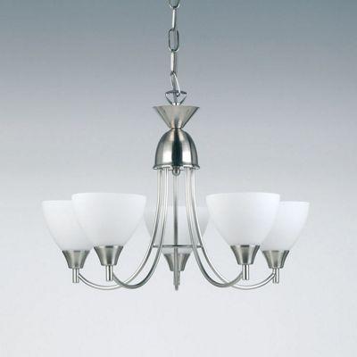 Endon Lighting Five Light Chandelier in Satin Chrome
