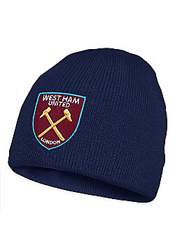 West Ham United FC Kids Knitted Hat - Navy blue