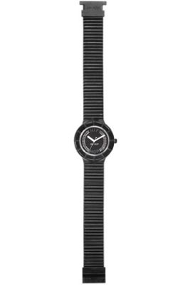 Hip Hop Unisex Crystal Black Tie Strap Watch HWU0069