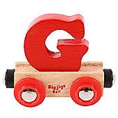 Bigjigs Rail Rail Name Letter G (Red)