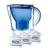 BRITA Marella Cool Water Filter Jug and Cartridges Starter Pack, Blue