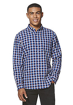 F&F Double Face Checked Shirt - Navy & Purple