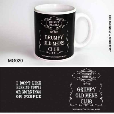 Original Metal Sign Co Mug Grumpy Old Mens Club Black