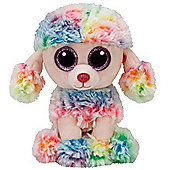 TY Beanie Boo Plush - Rainbow the Poodle 15cm