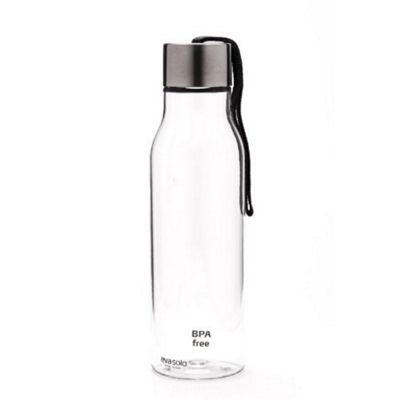 Eva Solo Clear Drinking Bottle with Grey Strap 0.5l