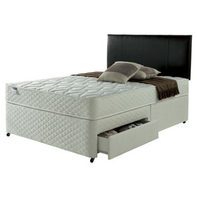 Silentnight Taplow Double Divan Bed with 4 Drawers, Miracoil Comfort
