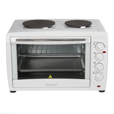 Igenix IG7145 45 Litre Electric Mini Oven with Double Hotplates - White