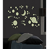 Outer Space Glow in the Dark Decals