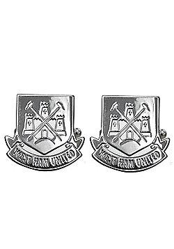West Ham United FC Chrome Cufflinks