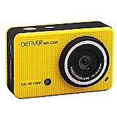 Denver Yellow ACT-5020TW HD Action camera with Screen & Phone App
