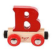 Bigjigs Rail Rail Name Letter B (Dark Red)