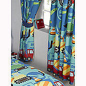 Construction Time Lined Curtains 66 inch x 54 inch (168cm x 137cm)
