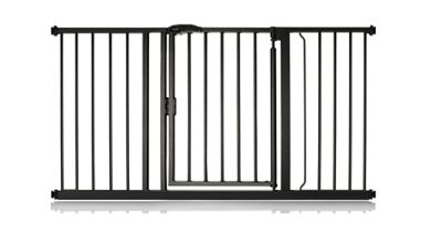 Safetots Auto Close Gate Matt Black 132.6cm - 139.6cm