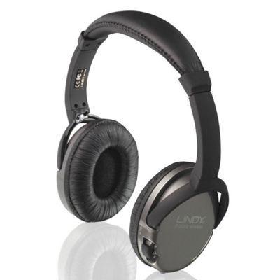 Lindy WHF-45 Wireless TV Headphones Black