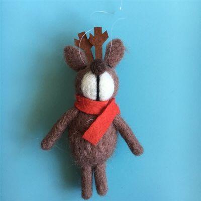 Wool Reindeer Decoration