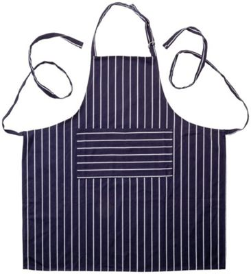 Stellar Chef's Cotton Drill Blue Striped Adult Apron