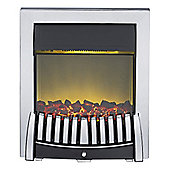 Adam Elise Inset Electric Fire in Chrome