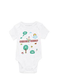 Tesco St John Ambulance CPR Short Sleeve Babygrow (Size 3-6 months) - White