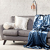 Dusk Crushed Velvet 140cm x 240cm Soft Throw Over - 1 Sided