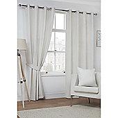Hamilton McBride Faux Suede Eyelet Curtains - Natural