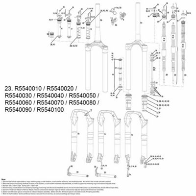 RockShox Dual Position Coil Spring/Shaft Assy Sektor 2012 Med Red 140mm (w/Knobs)