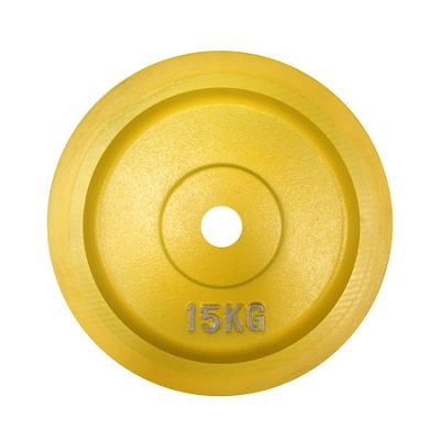 Body Power BUMPER Olympic Disc (Rubber Edged)- 15Kg (x2) YELL
