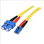 StarTech 10m Single Mode Duplex Fiber Patch Cable LC-SC