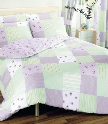 Dreams n Drapes Patchwork Lilac Duvet Cover Set - Double